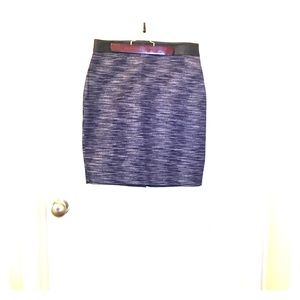 Pink and blue skirt with leather waist band